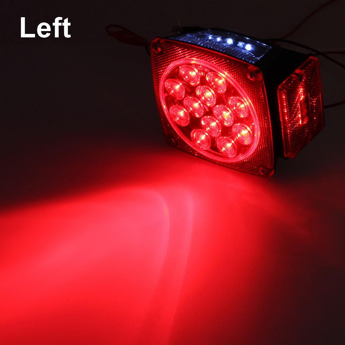 Led Trailer Boat Light Kit Stop Turn Tail Side Marker