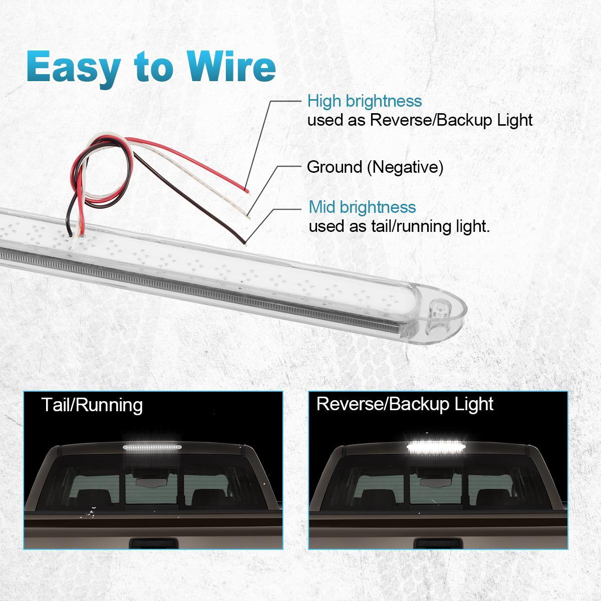 17 sealed white 23 led backup reverse fog light bar truck. Black Bedroom Furniture Sets. Home Design Ideas