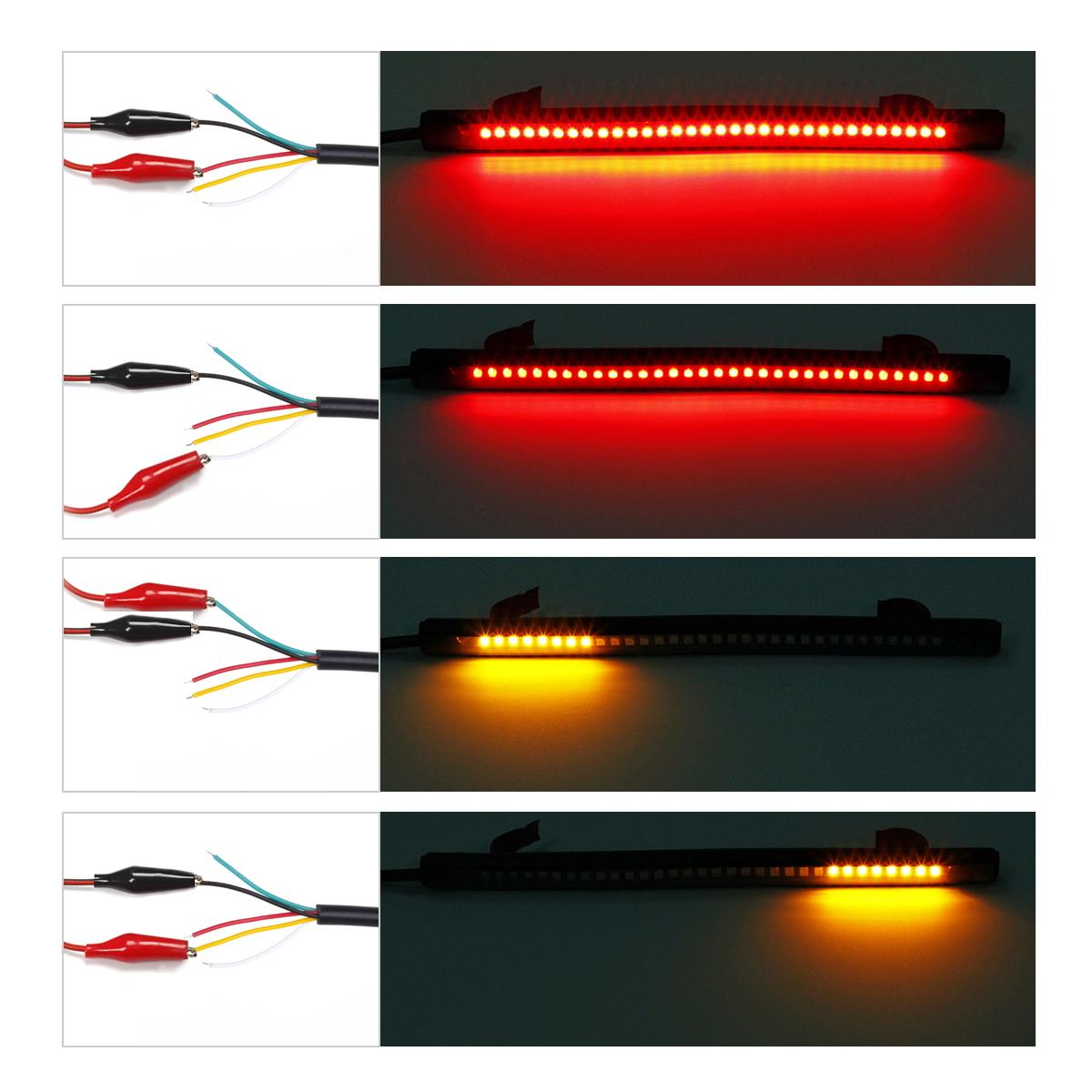 Motorcycle Integrated 32led 8 Quot Tail Brake Stop Turn Signal