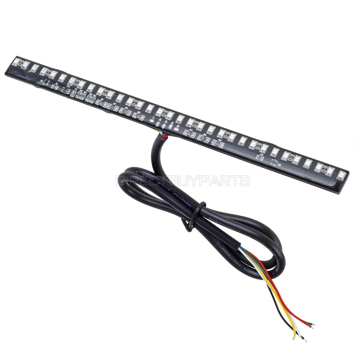 motorcycle 33smd universal led bar for brake tail light