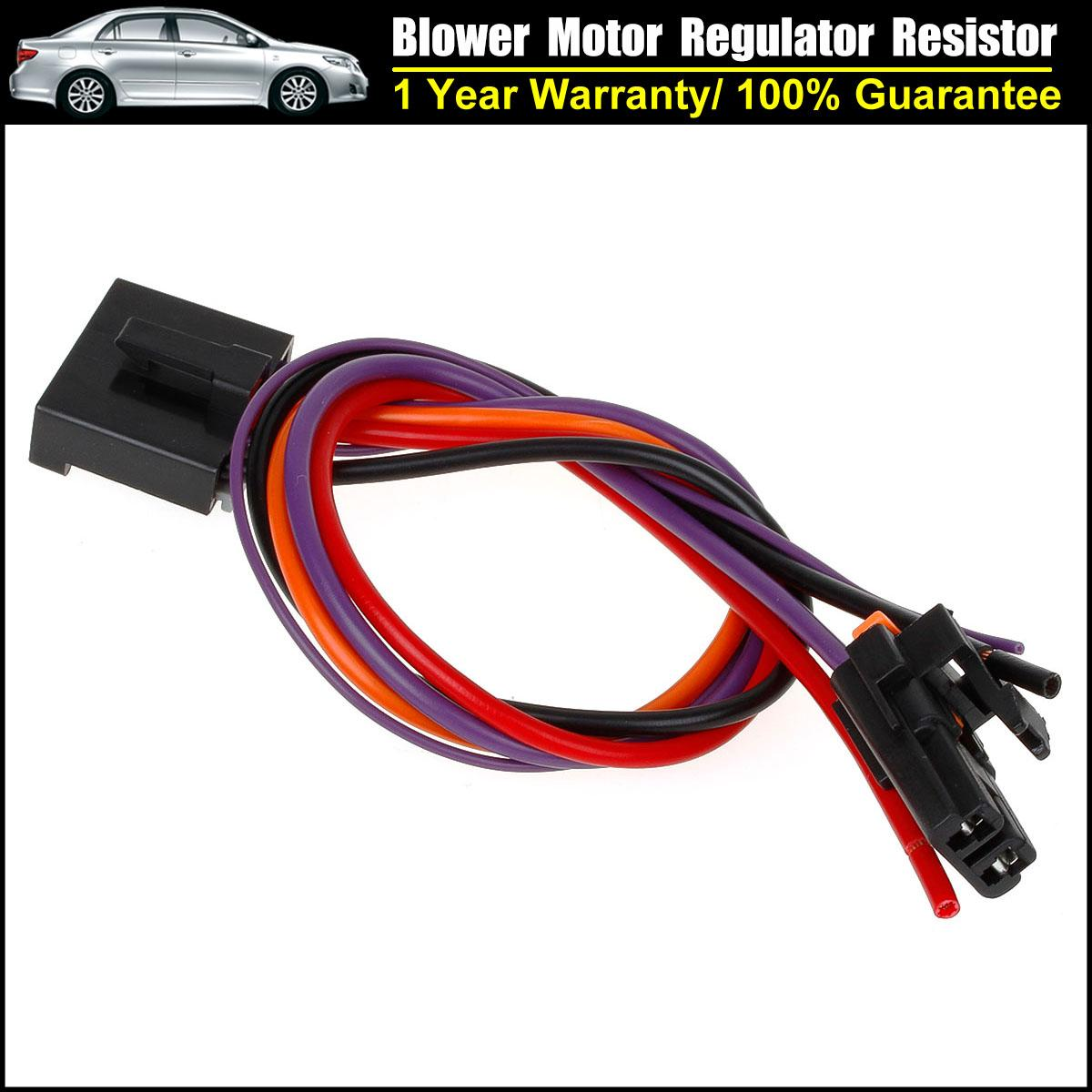 Blower motor resistor harness 5 2 wire pigtail connector for 2007 chevy silverado blower motor