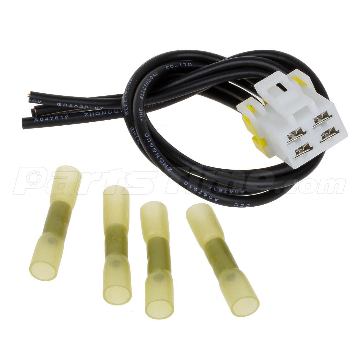 4 wire pigtail blower motor resistor plug connector for ford 7 Wire Blower Motor Resistor Harness 4 terminal connection wire pigtail blower motor resistor harness! 7-wire blower motor resistor harness