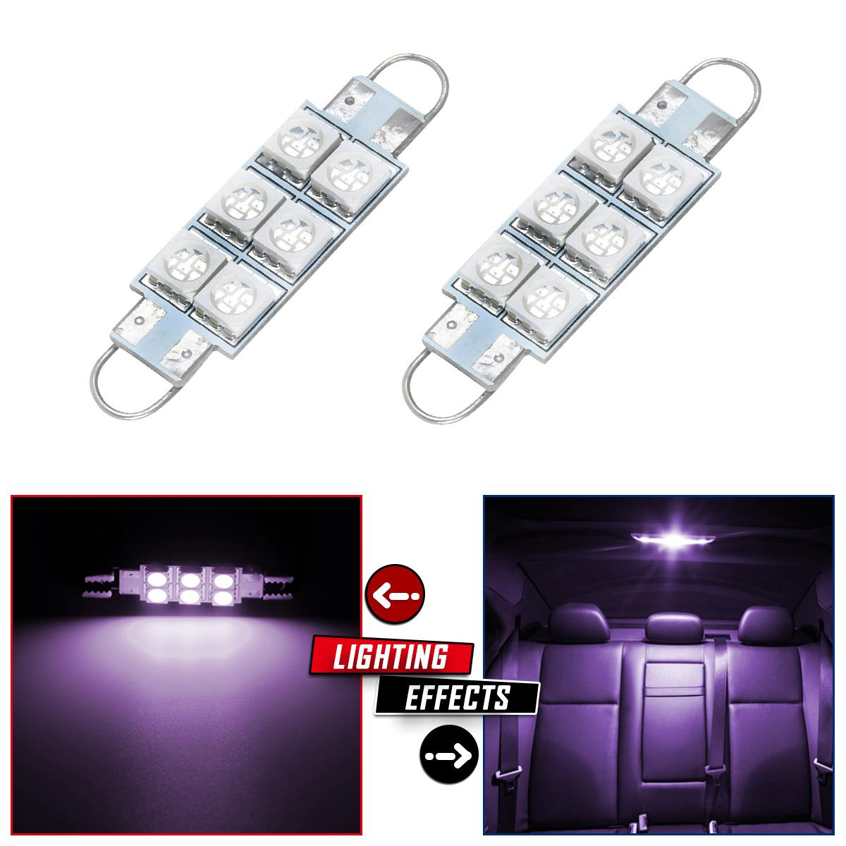 2pcs purple car interior dome lights led lamps 44mm festoon rigid loop for jeep. Black Bedroom Furniture Sets. Home Design Ideas