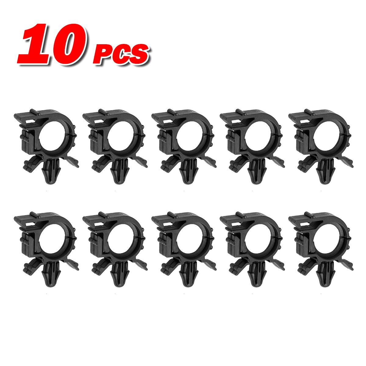 10pcs wire loom routing split conduit clips retainer fastener for gm universal