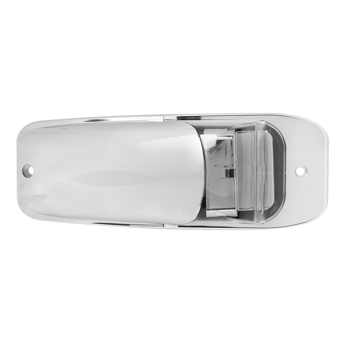 5 chrome 7 led upper cab lights clear amber for peterbilt. Black Bedroom Furniture Sets. Home Design Ideas