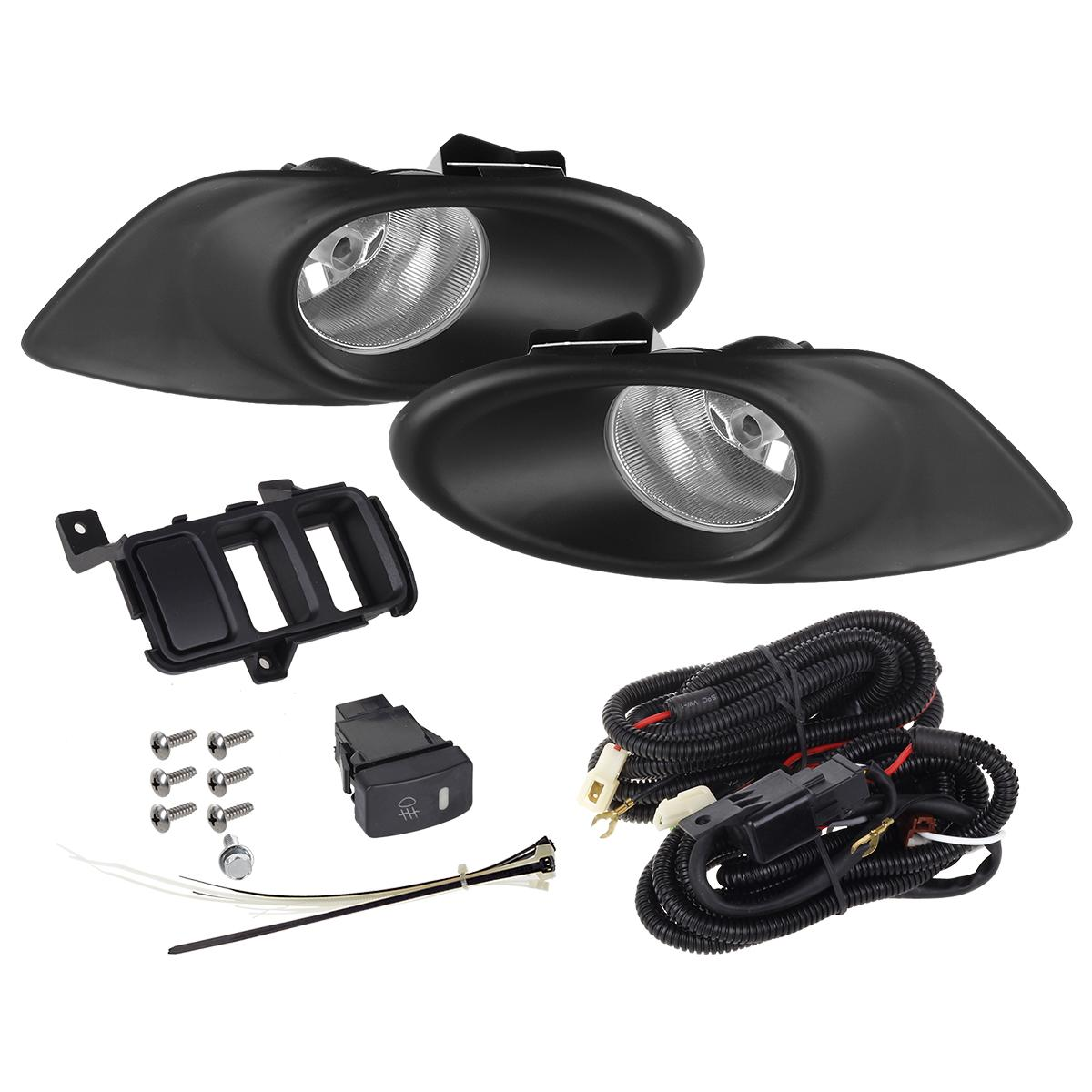 for 2008 2010 honda accord sedan 4dr clear lens fog lights. Black Bedroom Furniture Sets. Home Design Ideas