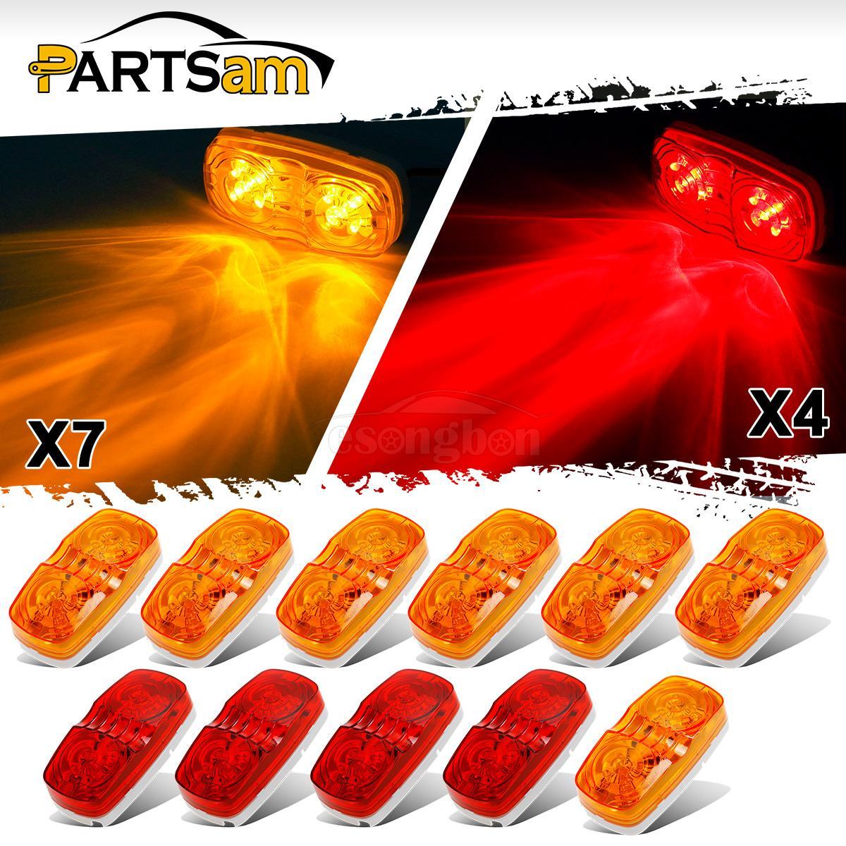 11 4 Quot Amber Red Tiger Eye Led Marker Light Exterior