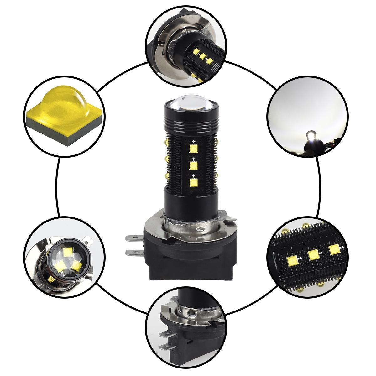 Kia Thunder Bay >> Pack2 LED Cree Bulbs H11B Headlight Xenon White Low Beam Passing High Power   eBay