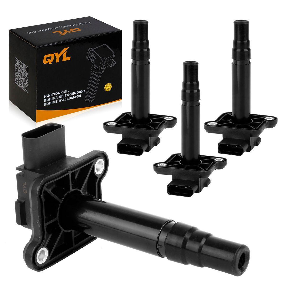 Ignition Coil Engine Light: 4PCS Ignition Coil Pack For VW Beetle Passat L4 1.8L Turbo