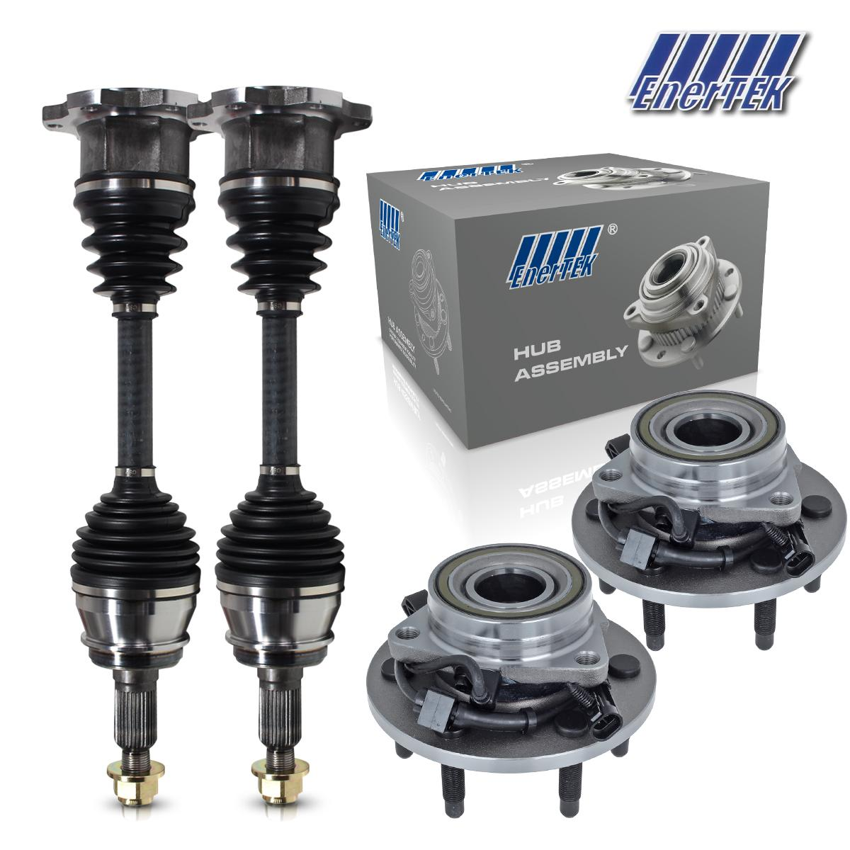 Front Left & Right CV Axles And Wheel Bearings For 2003