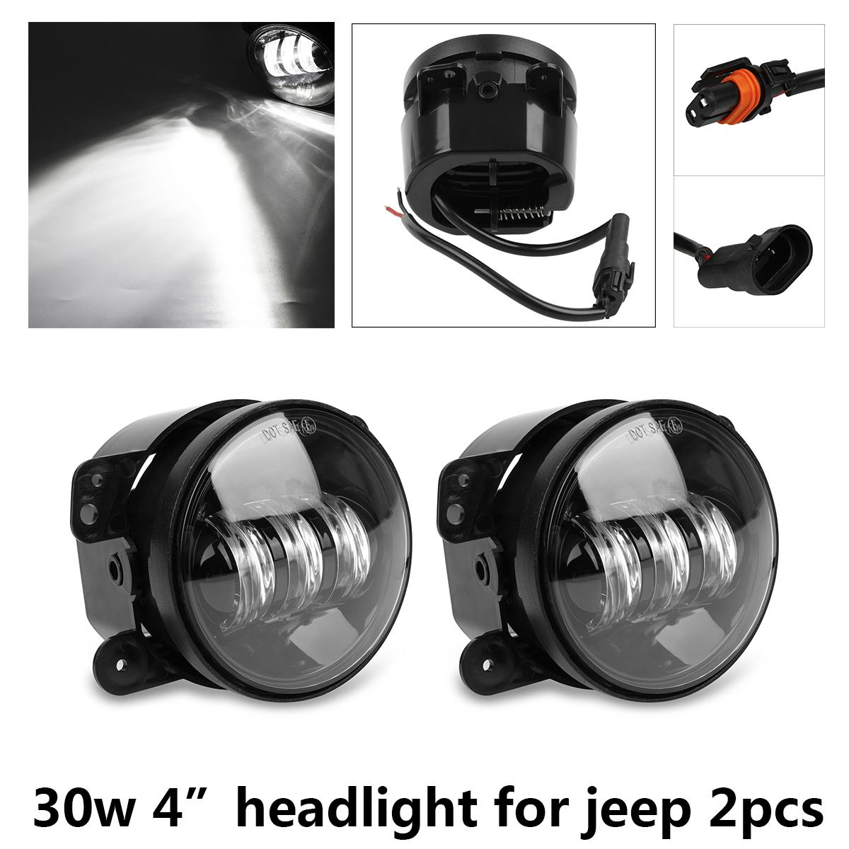 Led Combo Front Bulbs Replacements For 2007 2016 Jeep