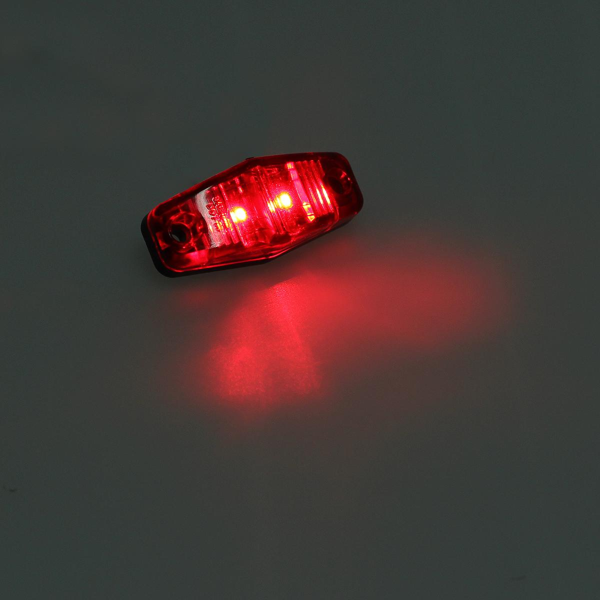 Led Small Trailer Light Kit Red Oval Stop Turn Tail Light