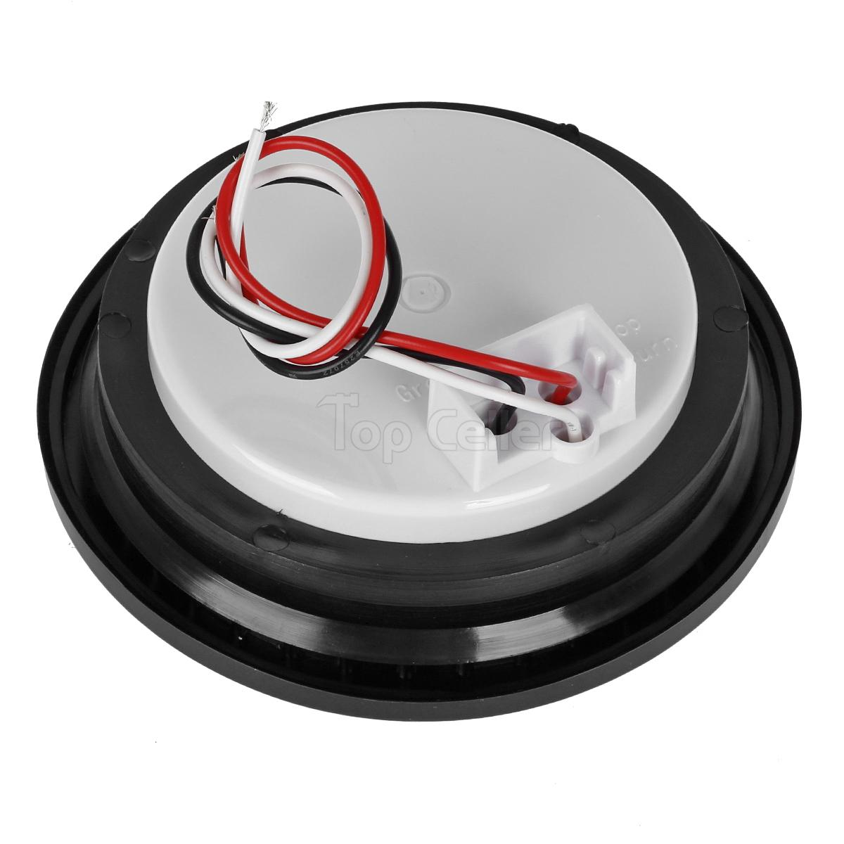 4 U0026quot  Inch Red 30 Led Round Stop  Turn  Tail Truck Light With Grommet  U0026 Wiring