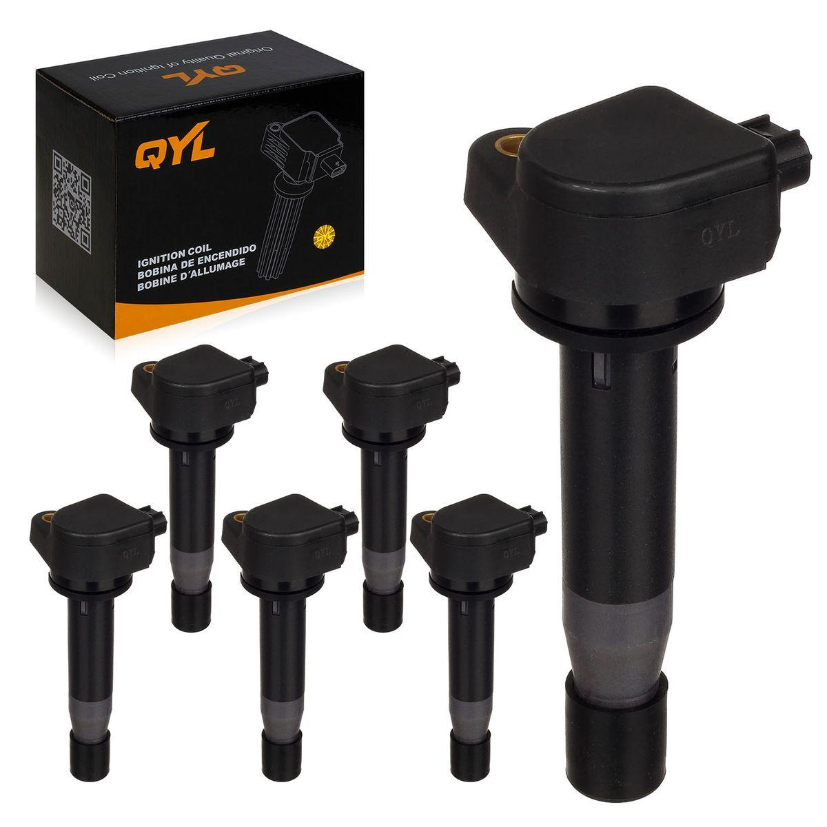 6PCS QYL Ignition Coil For Acura RL TL TSX For Honda