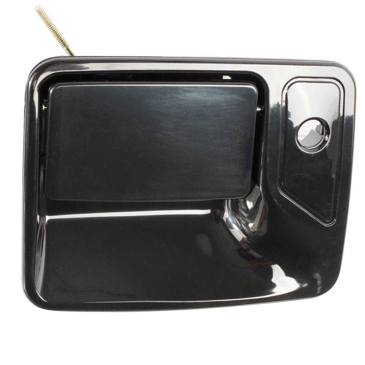 Outside Black Front Left Driver Side Door Handle For 02 05 Ford F 250 Super Duty Ebay